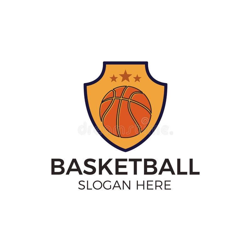 Basketball esport logo vector illustration