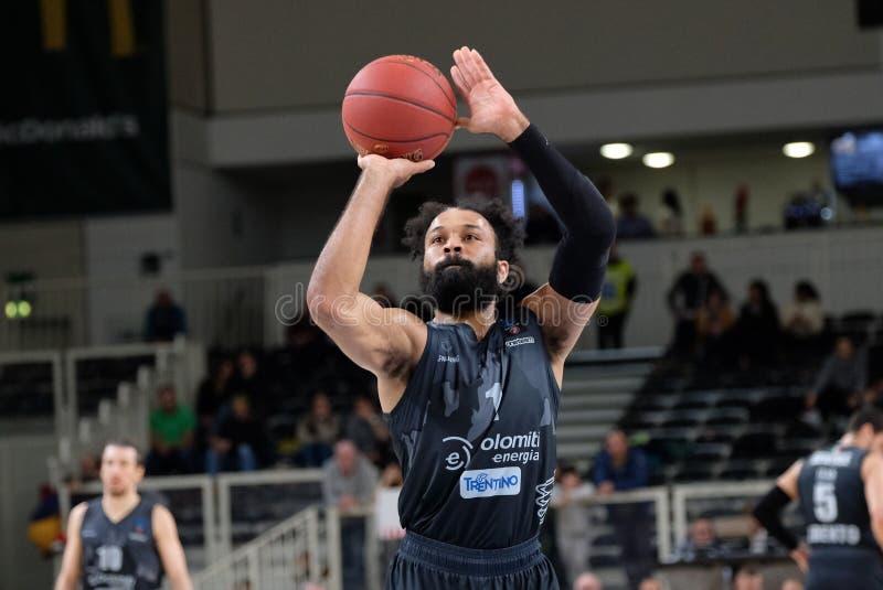 Basketball EuroCup Championship Dolomiti Energia Trento vs Darussafaka Tekfen Istanbul stock photos