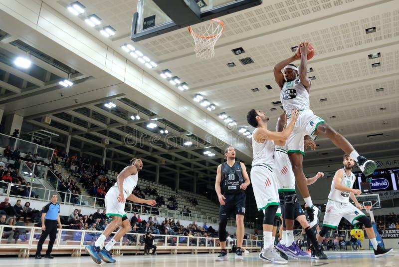 Basketball EuroCup Championship Dolomiti Energia Trento vs Darussafaka Tekfen Istanbul stock photography