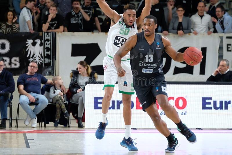 Basketball EuroCup Championship Dolomiti Energia Trento vs Darussafaka Tekfen Istanbul royalty free stock photography