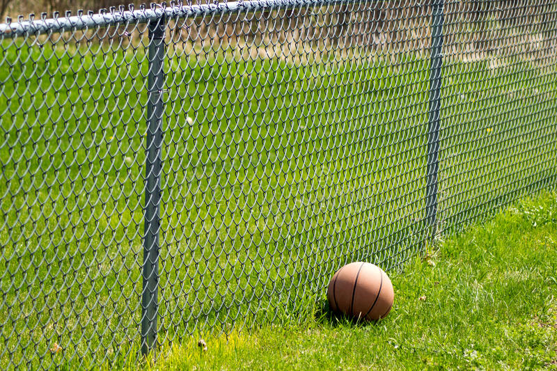 Download Basketball Fence 2 stock photo. Image of next, grass - 91656770