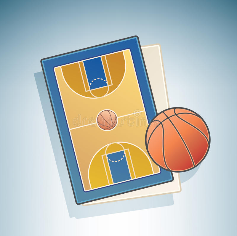 Basketball Field stock illustration