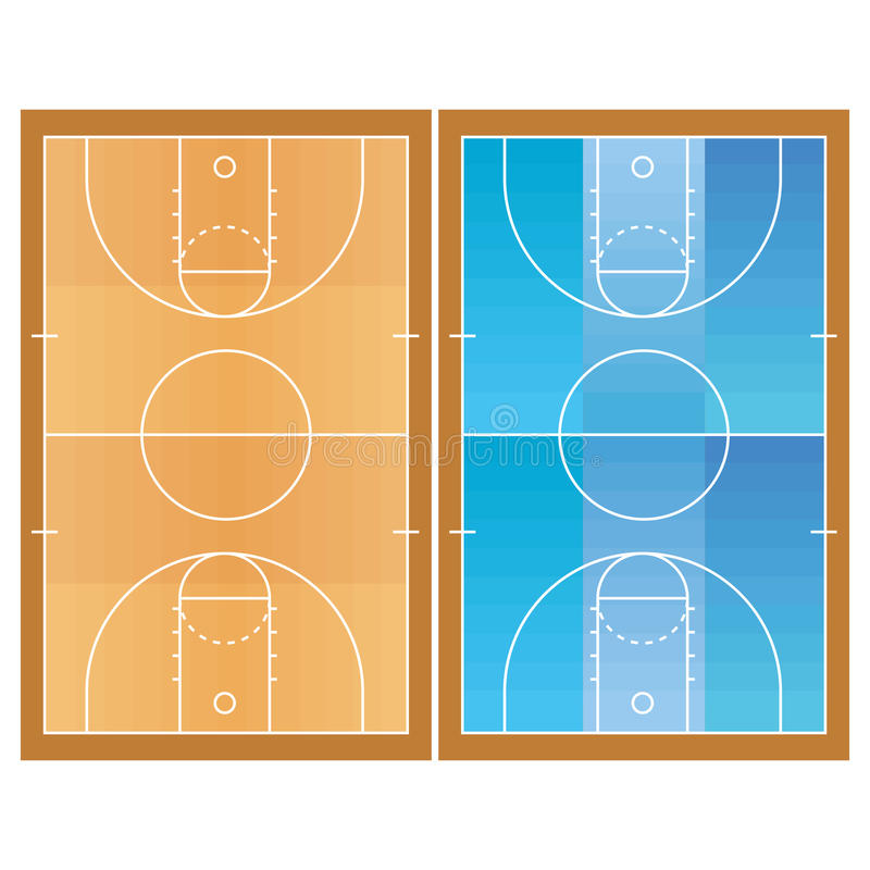 Free Basketball Field Isolated On White Background Stock Photography - 39305722