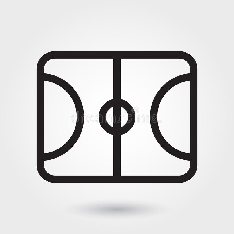 Basketball field vector icon, sports field icon, sports field symbol. Modern, simple outline, outline vector stock illustration