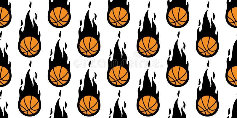 Basketball Seamless Pattern Vector Stripes Ball Sport