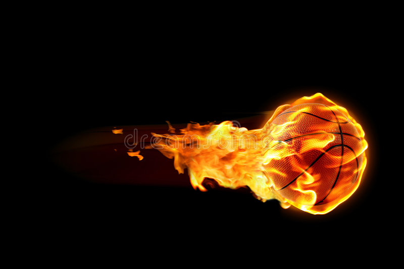 Basketball flames royalty free stock photography