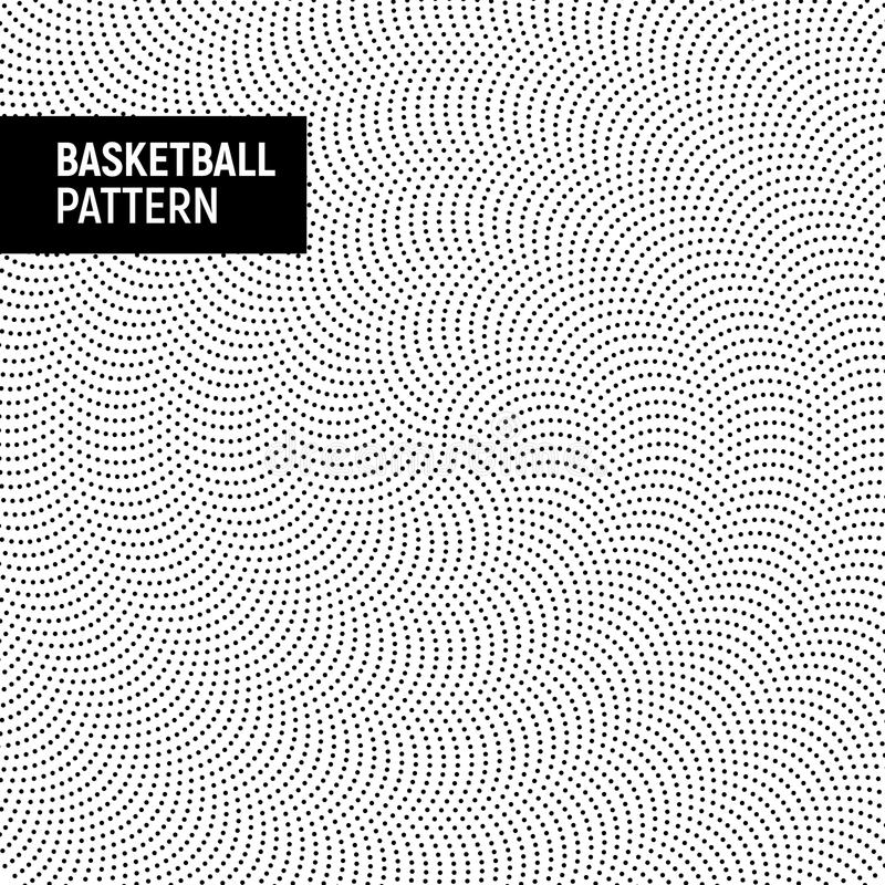 Basketball or football ball texture pattern black and white. Sport leather rubber surface background royalty free illustration