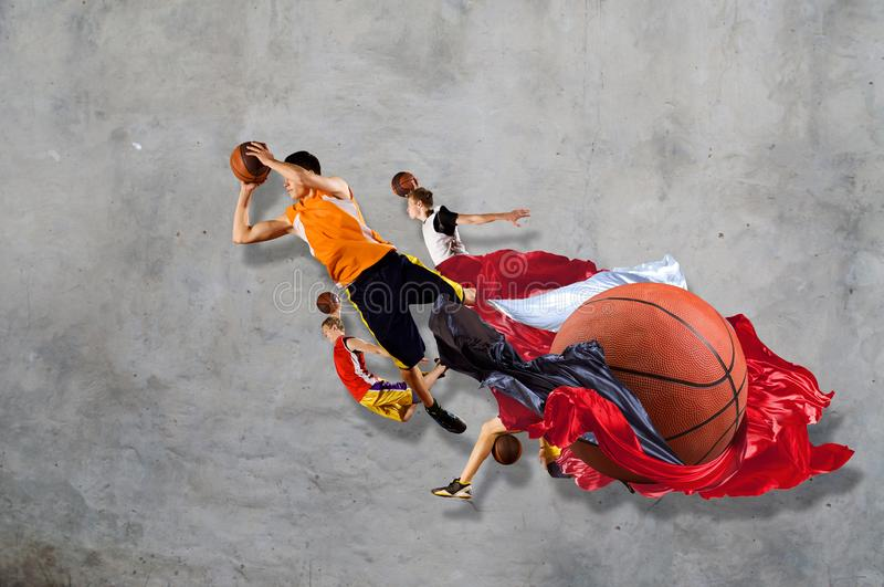 Basketball game as religion royalty free stock photography