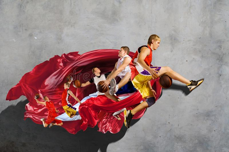 Basketball game as religion royalty free stock images