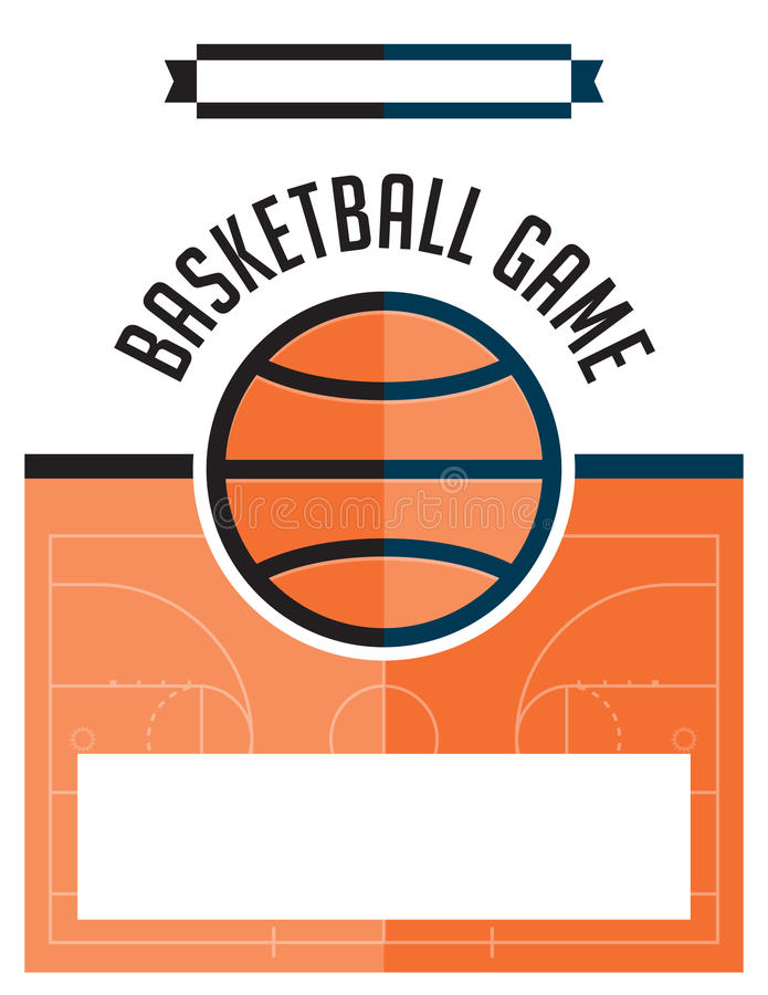 Basketball Game Flyer Illustration Stock Vector - Illustration of ...