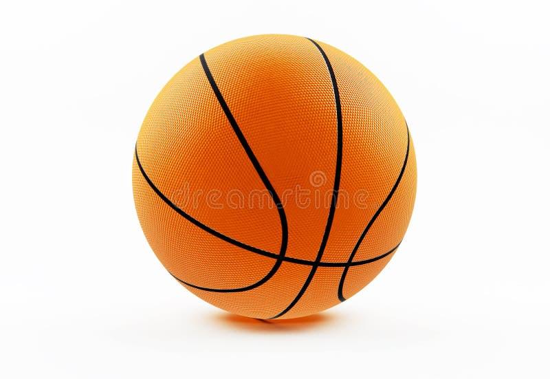 Basketball getrennt auf Weiß lizenzfreie stockbilder