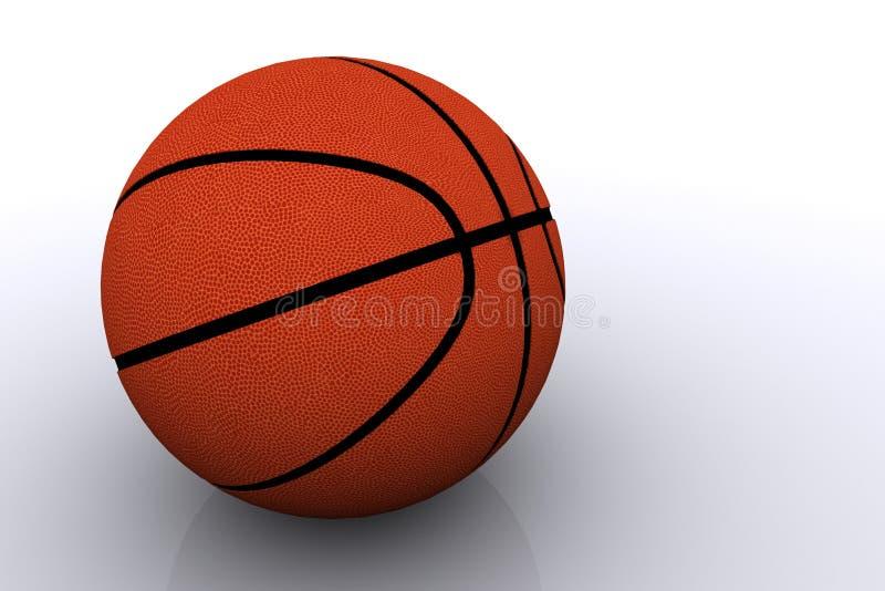 Basketball getrennt auf Weiß stockbild