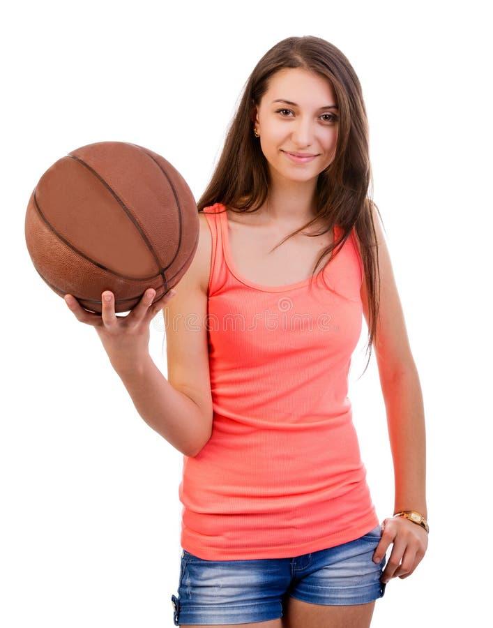 Download Basketball Girl stock image. Image of ball, woman, happy - 28499751