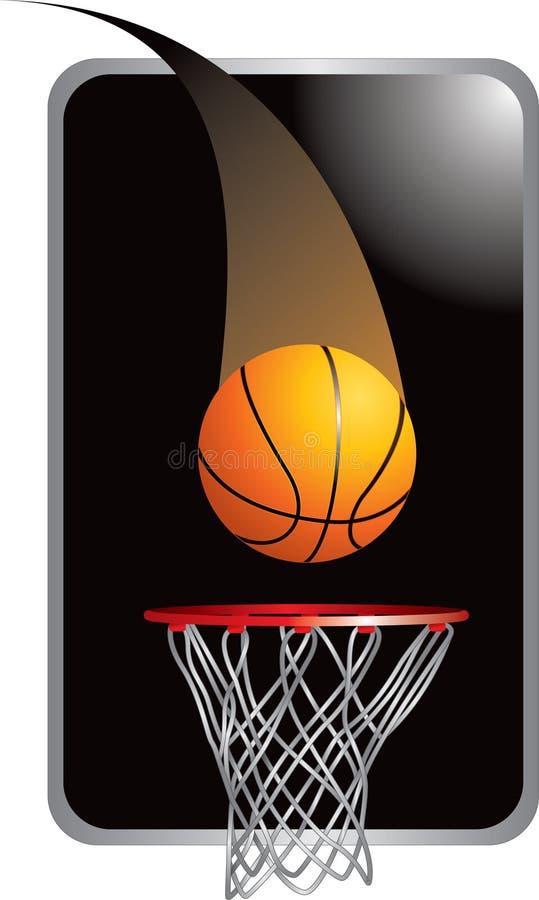 Basketball going into hoop vector illustration
