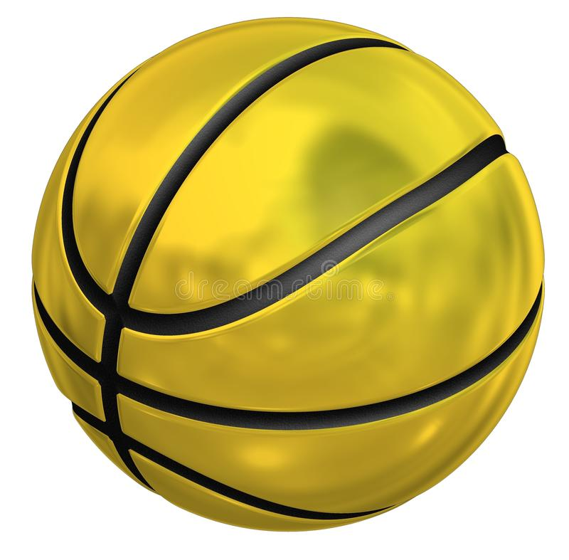 Basketball golden vektor abbildung