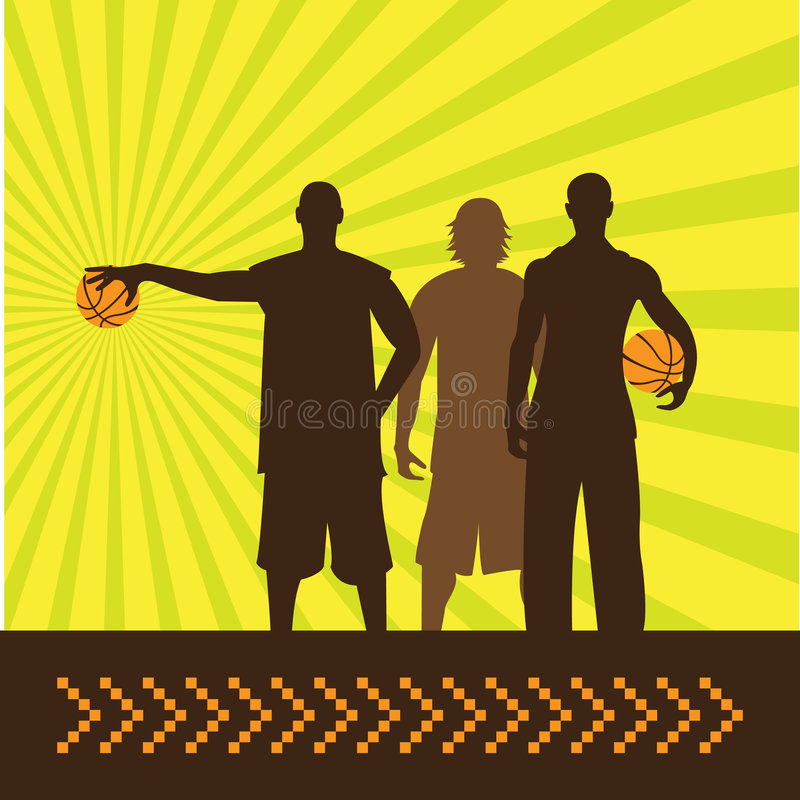 Basketball_guys illustrazione di stock