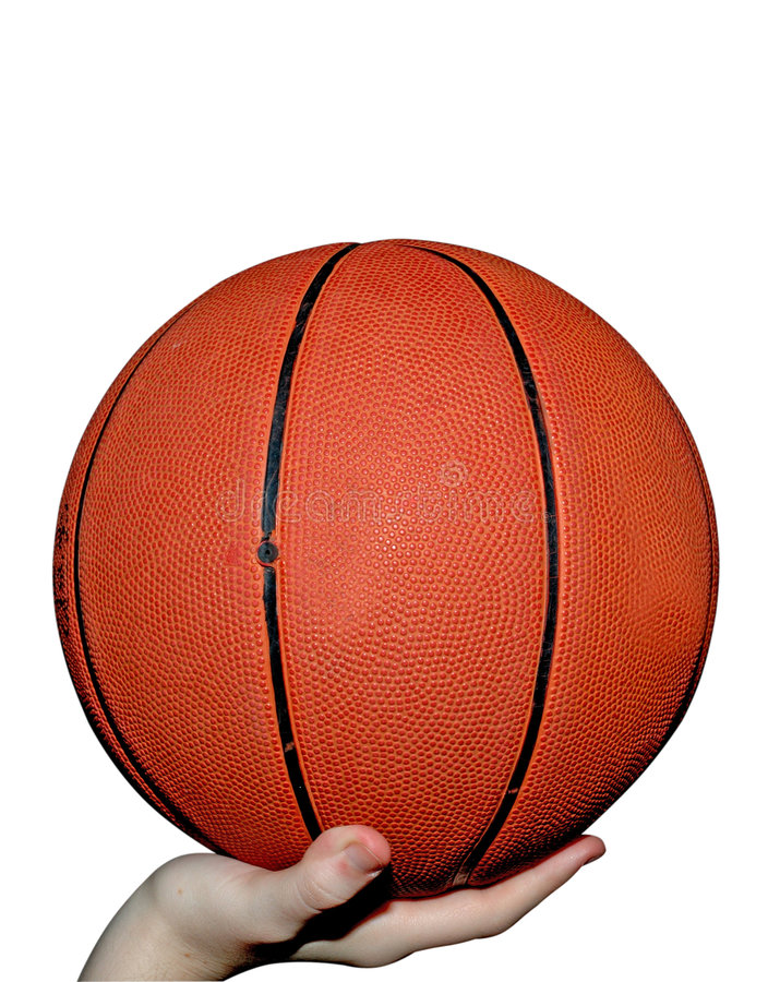 Basketball in Hand stock image