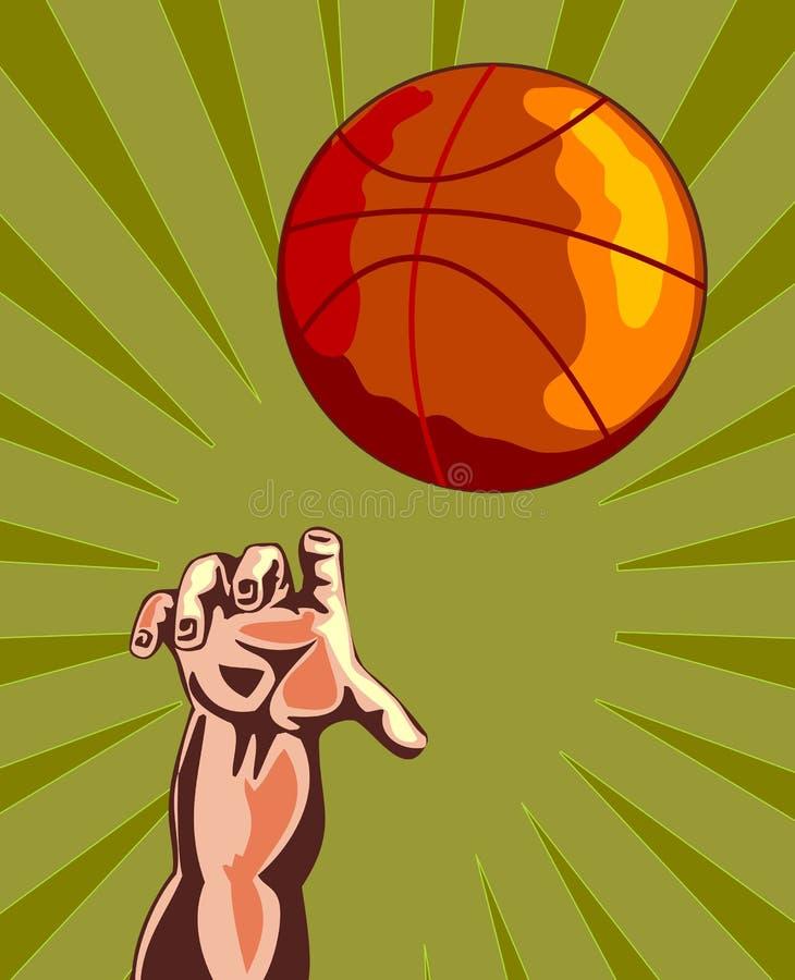 Basketball and hand rebounding stock photos