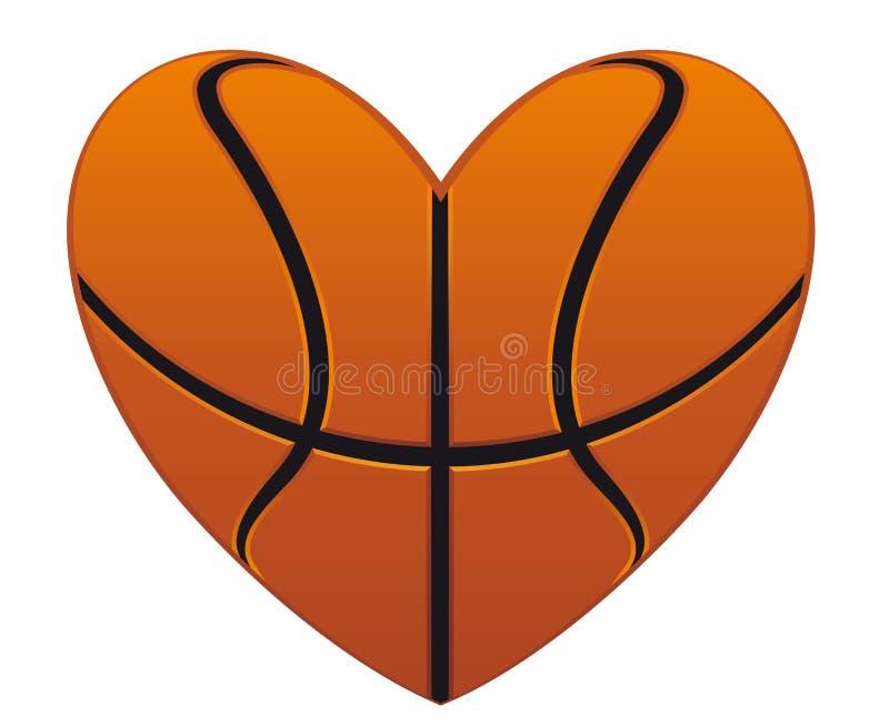basketball heart stock vector illustration of orange 25096783 rh dreamstime com Basketball Black and White Heart basketball heart clipart black and white