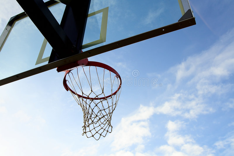 Download Basketball hoop stock image. Image of sport, clouds, glass - 1700433