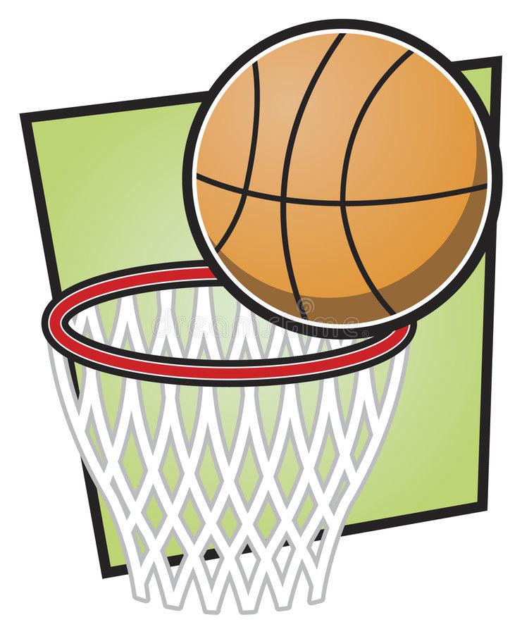 Basketball and Hoop royalty free stock photography