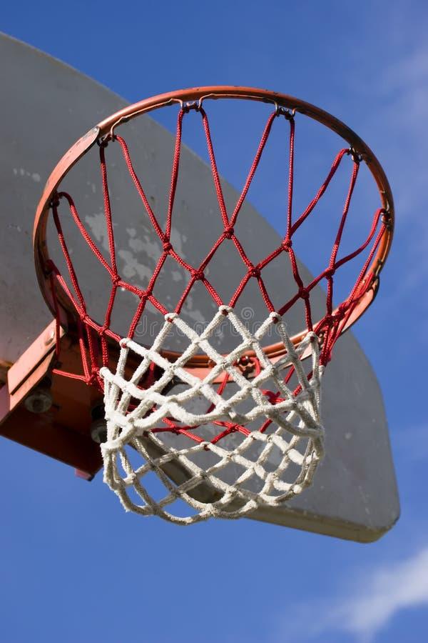 Basketball hoop. At local park stock photos