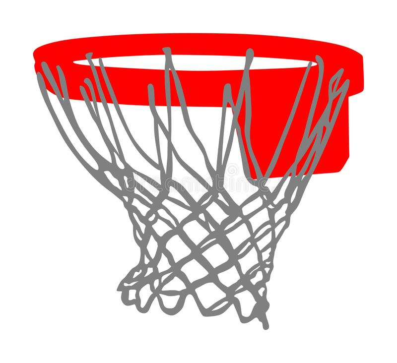 Free Basketball Hoop And Net Vector Illustration Isolated On White Background. Equipment For Basket Ball Court. Royalty Free Stock Photography - 160532697