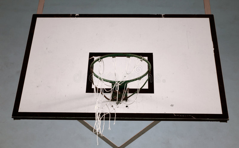 Basketball hoop and backboard royalty free stock images