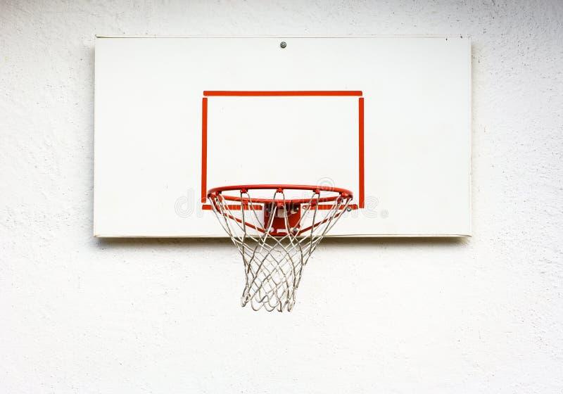 Basketball hoop. At a backyard royalty free stock photography