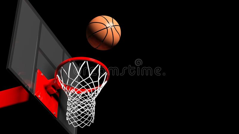 Basketball hoop with ball royalty free illustration