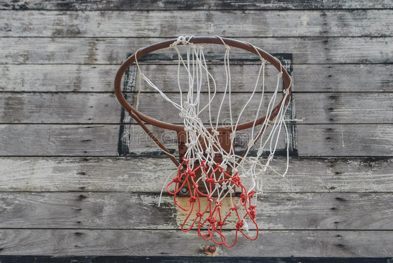 Basketball. Hoop and a cage royalty free stock image