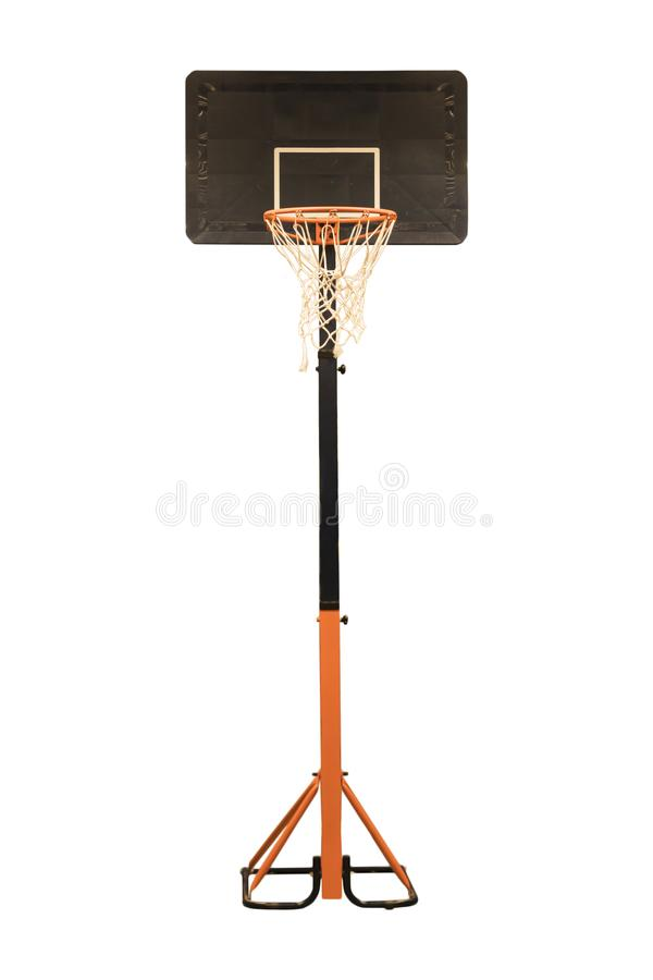 Basketball hoop on an isolated white background. Sports and activity stock images