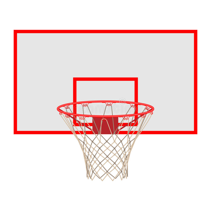 Free Basketball Hoop On Backboard Isolated On White Background Royalty Free Stock Photo - 89954095