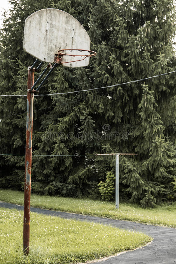 Free Basketball Hoop Rural Indiana Stock Image - 56455751