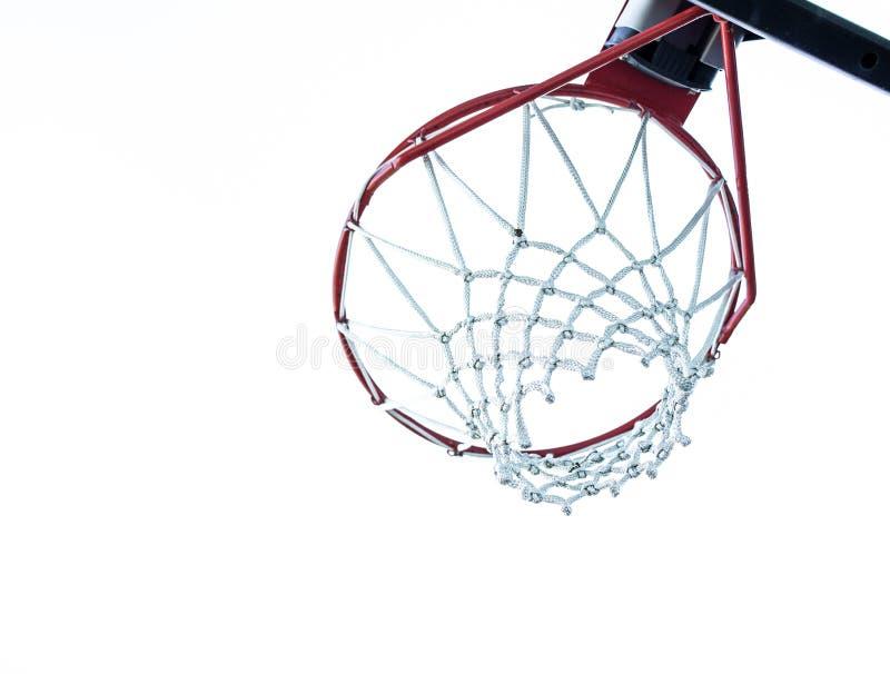 Basketball Hoop Underneath Royalty Free Stock Photography