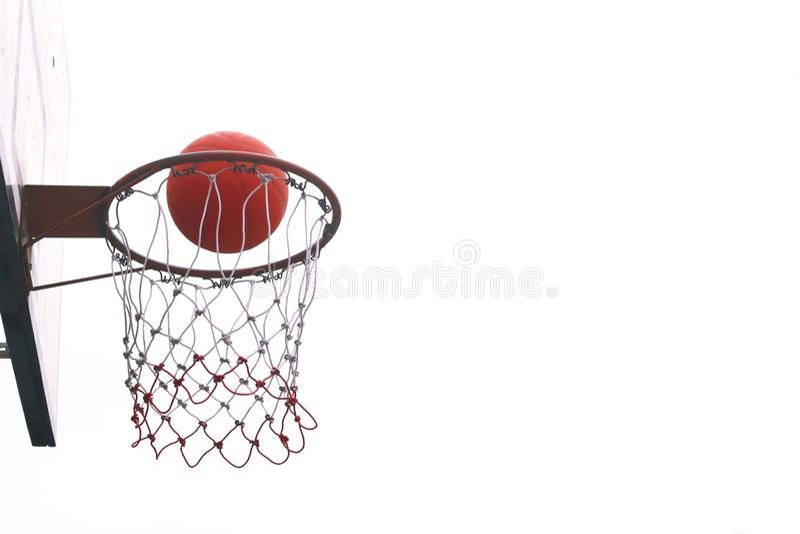 Basketball hoops. Basketball hoops on blue sky royalty free stock image