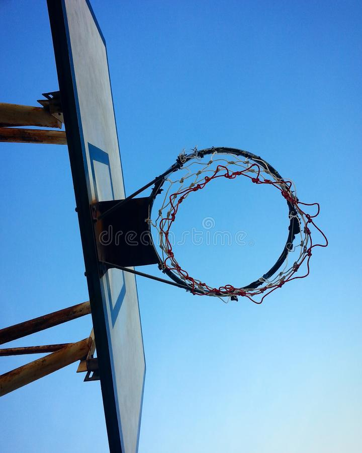 Basketball hoops royalty free stock photography