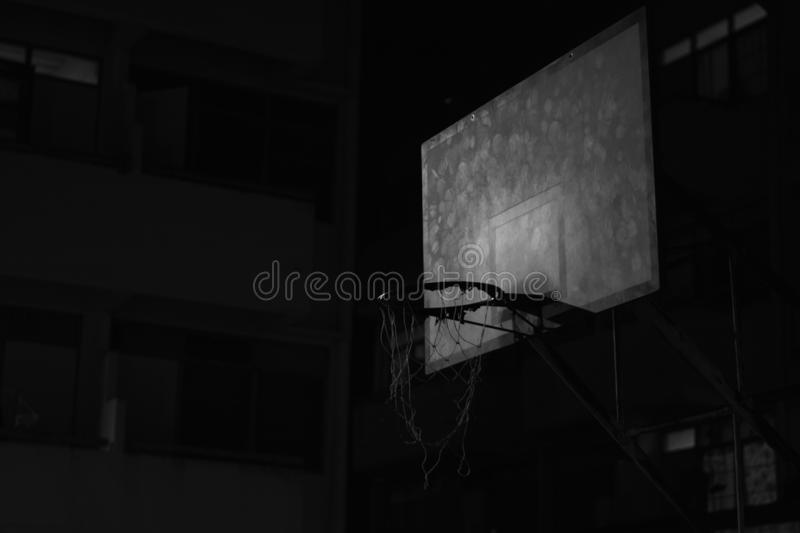 Basketball hoops. With blue sky royalty free stock photo