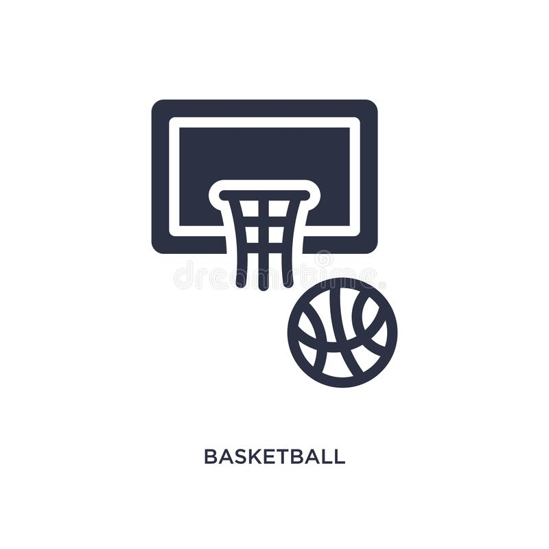 basketball icon on white background. Simple element illustration from education concept royalty free illustration