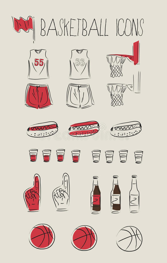 Basketball icons vector illustration