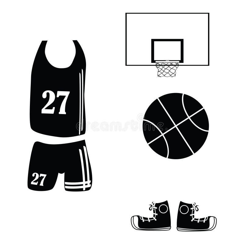 Basketball Icons Stock Photos