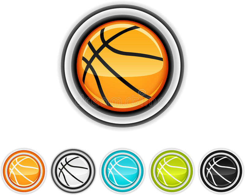 Basketball icons stock illustration