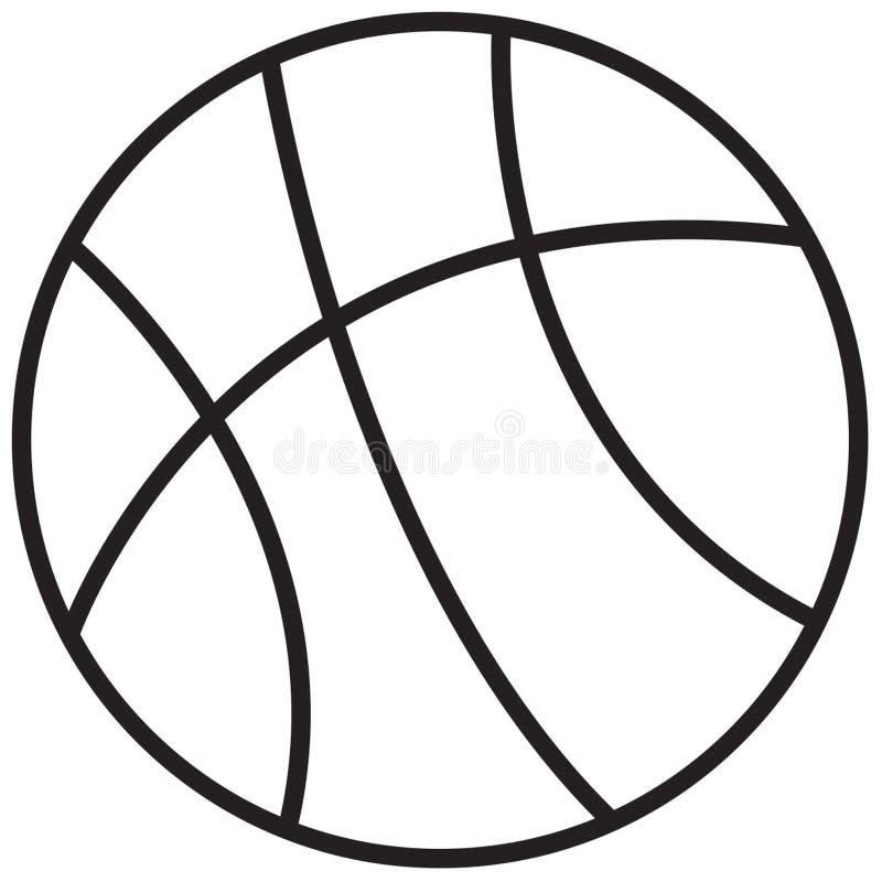 Simple Line Art Illustration : Basketball stock illustration of draw