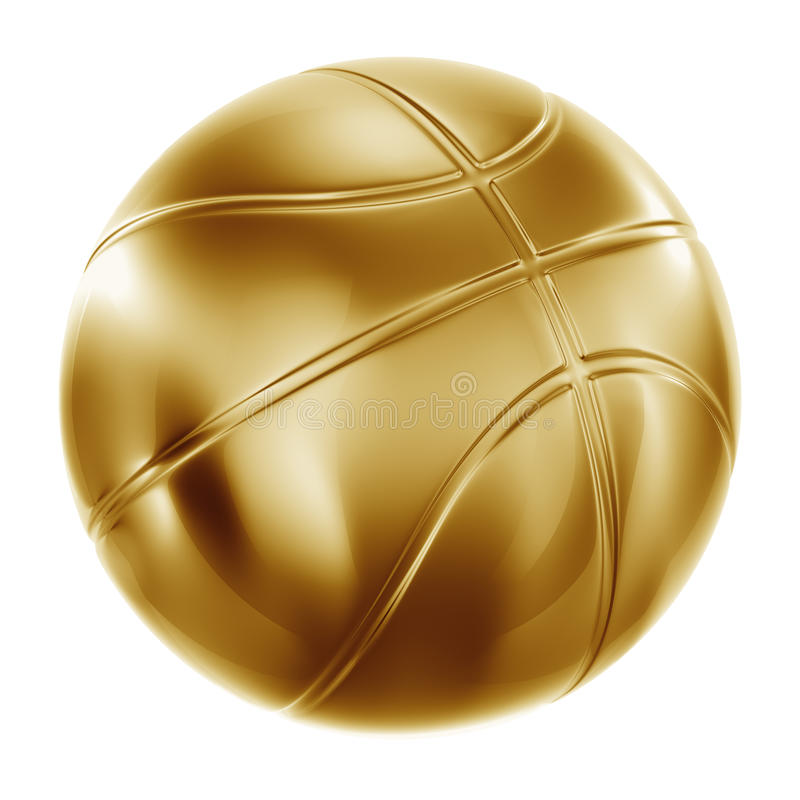 Free Basketball In Gold Stock Image - 10302651