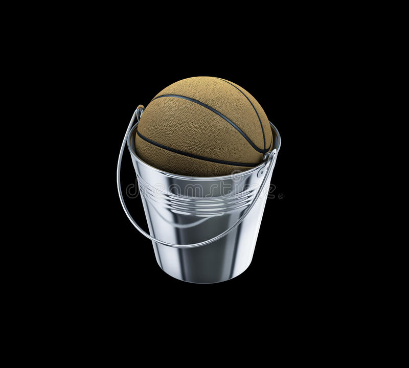 Basketball Inside Metal Bucket Basketball Expression Stock Illustration Illustration Of Play Court 96509553