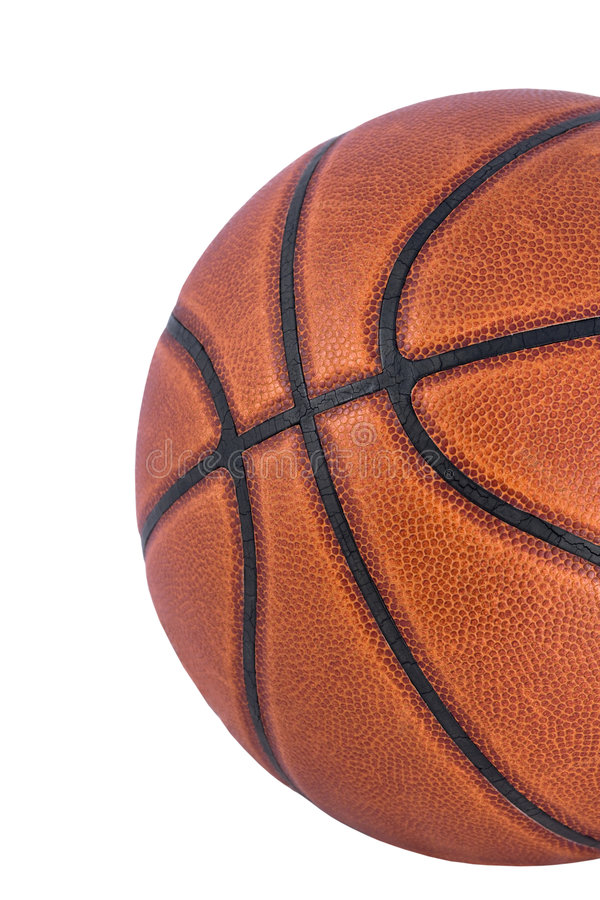 Basketball Isolated. A close-up of a basketball isolated on a white background WITH CLIPPING PATH royalty free stock photography
