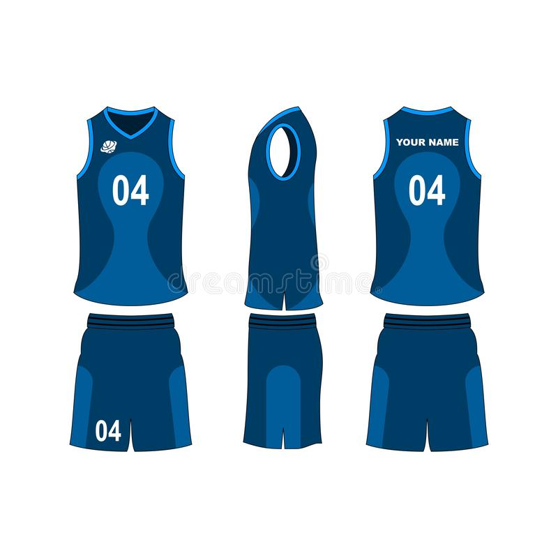 Basketball jersey set template collection. vector illustration