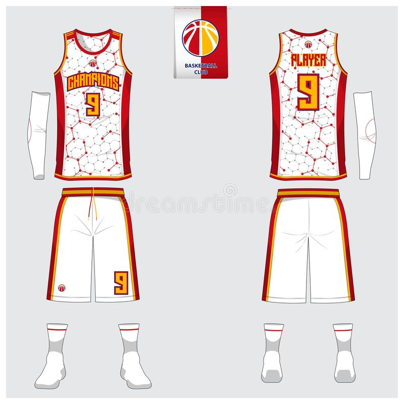 Basketball Jersey, Shorts, Socks Template For Basketball Club. Front ...
