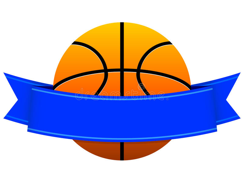 Basketball Logo. An illustration of a full color basketball logo / emblem left blank for customization purposes