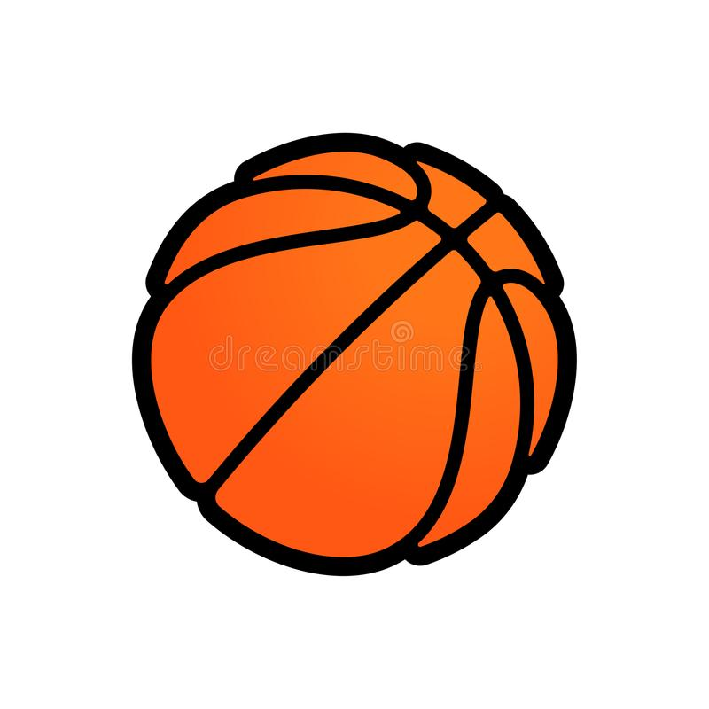 Basketball logo vector icon for streetball championship tournament, school or college team league. Vector flat orange basket ball stock illustration